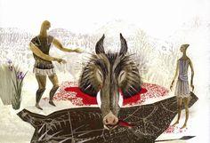 Искусство книжной графики, иллюстрации и рисунка Мифы и легенды древней Греции