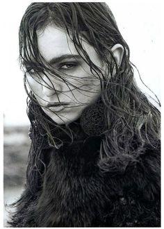 Social and Personal Dec12 : Stylist Roxanne Parker, Model Maria Bordman. MONSTER KNIT AW12. Lee Jeffries, Model, Stylists, Scale Model, Models, Template, Pattern, Mockup