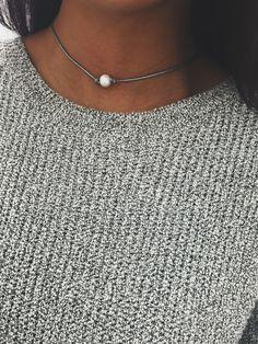 Metallic White Pearl Pearl Choker – Stargaze Jewelry