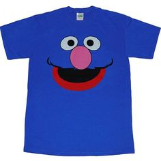 Sesame Street Grover Face T-Shirt-Small                                                                                                                                                                                 More
