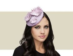 9edd4b75a771f This Cathy lavender purple beret features a satin flower and pearl center  detail