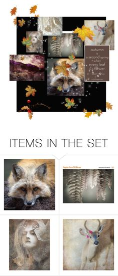 """""""A Day in Autumn"""" by thresholdpaperart ❤ liked on Polyvore featuring art, autumn and alcoholinkart"""