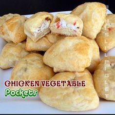 Chicken Vegetable Pockets #Appetizers #ChickenDotCA #Chicken1MoreTime ^SM