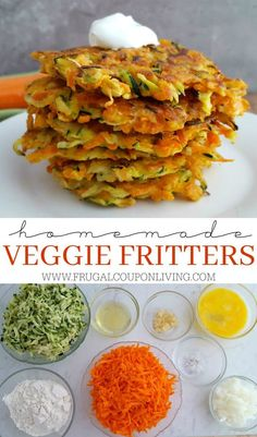 Easy Veggie Fritters with hidden protein - The Kids Will Love Them! #vegetables #frugalcouponliving #hiddenveggies #veggies #veggielove #veggieburger #fritters #easyvegetablegardeningideas #easyvegetarianrecipes #vegetablerecipes #recipes #recipesforkids #recipesfordinner