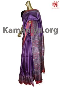 Description: This is a hand block printed Gachi Tussar Saree with kantha work on the palla & boder.The mannequin is wearing a blouse from our stylist's collection. Code No: S/DAG32 Visit our Website: http://kamaniya.org/product/handloom-tussar-with-kantha-79/