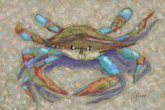 Mr. Crab - Coastal Artwork: Beach Decor, Coastal Home Decor, Nautical Decor, Tropical Island Decor & Beach Cottage Furnishings