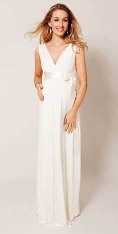 Anastasia Maternity Gown (Ivory) by Tiffany Rose