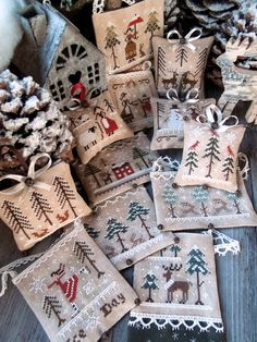 The Twelve Days of Christmas - PDF Digital Cross Stitch patterns - by The Little Stitcher