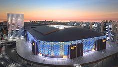Friends Arena - Stade accueillant la finale de l'Euro 2013 de Football Féminin   Situé dans la banlieue de Stockholm en Suède.