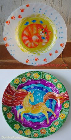 How to paint a decorative plate with his hands - All the fun!