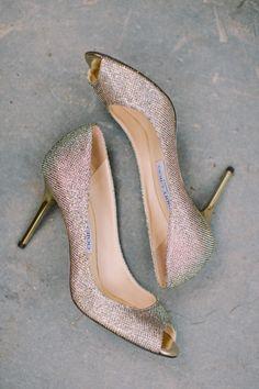 Metallic shoes: http://www.stylemepretty.com/new-york-weddings/rochester-ny/2015/05/23/traditional-rochester-country-club-wedding/ | Photography: Alexandra Meseke - http://alexandrameseke.com/