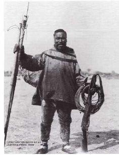 Inuit Eskimo walrus hunter.