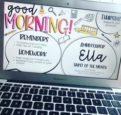 SLIDIN' BACK 2 SCHOOL ✏️ My backtoschool Good Morning slides are posted! These 11 new designs will make your teacher heart happy! Check… klassenführunggrundschule is part of Classroom management plan - 5th Grade Classroom, School Classroom, Future Classroom, Classroom Ideas, Google Classroom, Classroom Activities, Back 2 School, Beginning Of School, Back To School Teacher