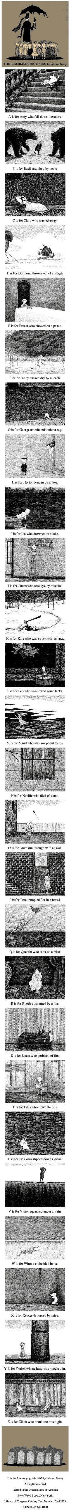 //The Gashlycrumb Tinies by Edward Gorey #illustration