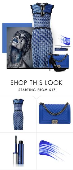 """""""blue sunday"""" by art-gives-me-life ❤ liked on Polyvore featuring Mary Katrantzou, Chanel, Clinique, Tom Ford, Acne Studios, contestentry and cuteboxforladies"""