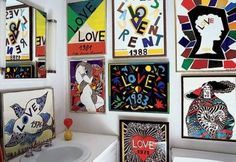 Yves Saint Laurent collection of Love Posters