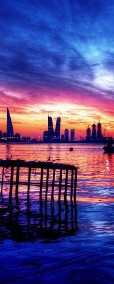 Sunset in Manama, Bahrain