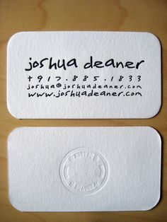 21 Fun, Creative Typographic Business Cards