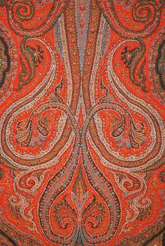 antique-paisley-kashmiri Textiles, Textile Patterns, Print Patterns, Paisley Park, Paisley Print, Paisley Design, Paisley Pattern, Woodblock Print, Kashmiri Shawls
