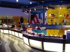 Chef Mickey's Buffet - Character Breakfast or Dinner - Mickey & The Fab 5 - at the Contemporary Resort Disney World Restaurants, Disney Resorts, Disney Vacations, Disney Trips, Disney Parks, Family Vacations, Disney World Florida, Disney World Vacation, Walt Disney World