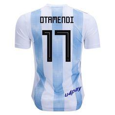 6fb26044b81 Nicolas Otamendi 17 2018 FIFA World Cup Argentina Home Soccer Jersey Angel  Di Maria, Soccer