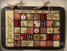 Cookie Sheet Calendar (detailed tutorial)