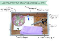 Wabenbälle DIY Hochzeit Honeycombs selbermachen material