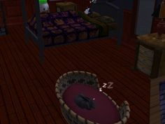 #courtleymanor #gothic #webcomic #goth #sims #bedtime #sleeping #cats