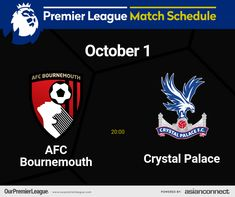 Afc Bournemouth, Match Schedule, Premier League Matches, Crystal Palace, Day