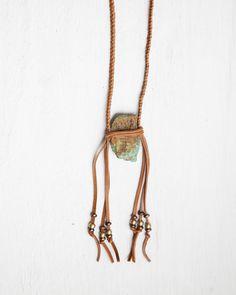 Kingman Turquoise Talisman Necklace | SoulMakes | Bohemian Jewelry and Indie Fashion | Artisan Handmade Jewelry