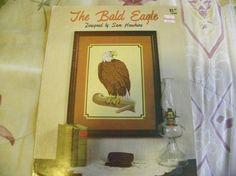 Crosstitch Pattern Leaflet  The Bald Eagle by MillersHollowGifts