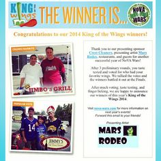 Missed the newsletter announcing the winner of King of the Wings 2014? Sign-up here: [northernvirginiamag.com/newsletter] for exclusive content and never be the last to know! #NoVAStyle