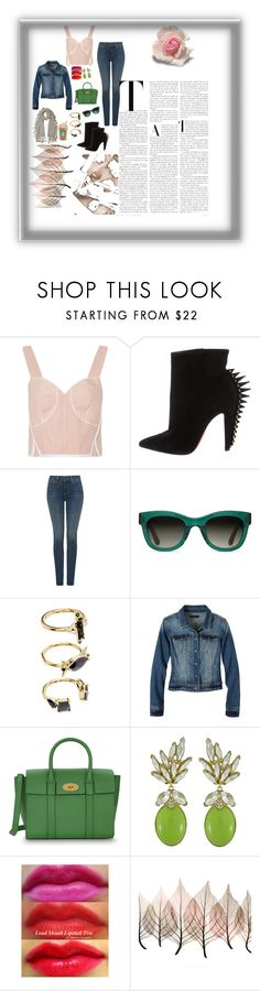 """""""G.T.G"""" by stylist568 ❤ liked on Polyvore featuring Calvin Klein Collection, Christian Louboutin, NYDJ, TOMS, Noir Jewelry, prAna, Mulberry, Ciner and Artistica"""