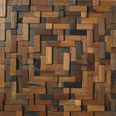 WindSong - 3D wood mosaic in spiral design