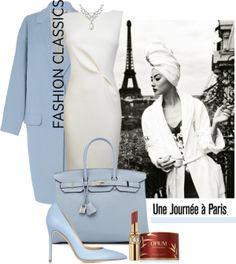 """A Blue Quiet Paris Morning"" by halfmoonrun on Polyvore"