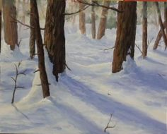 Free art lesson - How to Paint Snow in Oil — Online Art Lessons