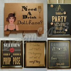 Great Gatsby Sign. Roaring 20s. Party like Gatsby. A little party never killed nobody. Gatsby Party. Gatsby Decorations. by DreemCrafts on Etsy