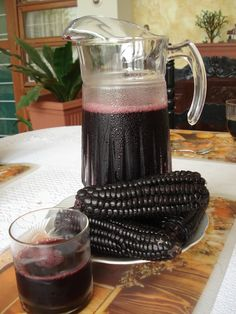 Chicha Morada, a Peruvian drink made from purple corn, sugar and spices.