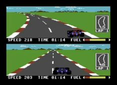 Commodore 64 Game - RACE! Pitstop 2!