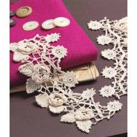 I love these lace crochet cuffs. They would look stunning under a jacket. Irish Crochet Cuffs