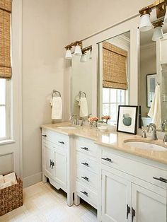 Making large builders mirror appear separate with molding.