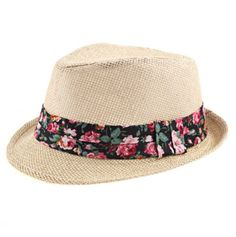 Cassidy Floral Accent Fedora