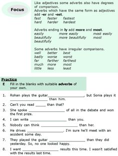 Grade 6 Grammar Lesson 15 Adjectives and adverbs (5)