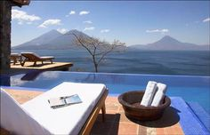 Guatemala's Lake Atitlan is distinguished by the three volcanoes that line its southern shore. The Hotel Casa Palopo incorporates the Mayan influence into its design scheme, bringing the local culture right into the hotel.