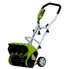 GreenWorks 16 in. 10 Amp Electric Snow Thrower - Snow shoveling just got a whole lot easier with the GreenWorks 16 in. 10 Amp Electric Snow Thrower on your side. Boasting a 10 amp motor, 16 in. Electric Snow Shovel, Electric Snow Blower, Electric Power, Snow Shovel With Wheels, Shoveling Snow, Yard Maintenance, Snow Plow, Winter Snow, Lawn Mower
