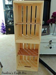 ideas for shoe storage diy entryway crate shelves Shoe Storage Diy, Wooden Storage Bins, Small Office Storage, Shoe Storage Solutions, Entryway Shoe Storage, Small Space Storage, Ikea Storage, Crate Storage, Storage Boxes