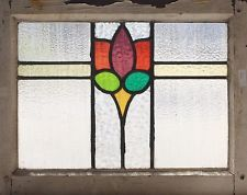 Antique Stained Glass Window Six color Fancy Tulip