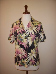 TOMMY BAHAMA Women's Silk SHIRT S #TommyBahama #ButtonDownShirt #Casual