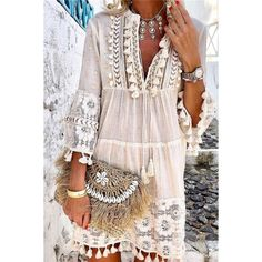 Bohemian Style 467530005068318875 - v neck Boho Chic Dress Women solid tassel summer linen bohemian style dress long sleeve Plus Size hipple Dresses femme Source by Look Hippie Chic, Boho Chic, Shabby Chic, Bohemian Style Dresses, Boho Dress, Chic Dress, Boho Style, Fringe Dress, Boho Outfits
