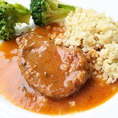 Schab w sosie węgierskim Kielbasa, Wonderful Recipe, Food Court, Kfc, Pork Chops, Mashed Potatoes, Food And Drink, Cooking Recipes, Beef